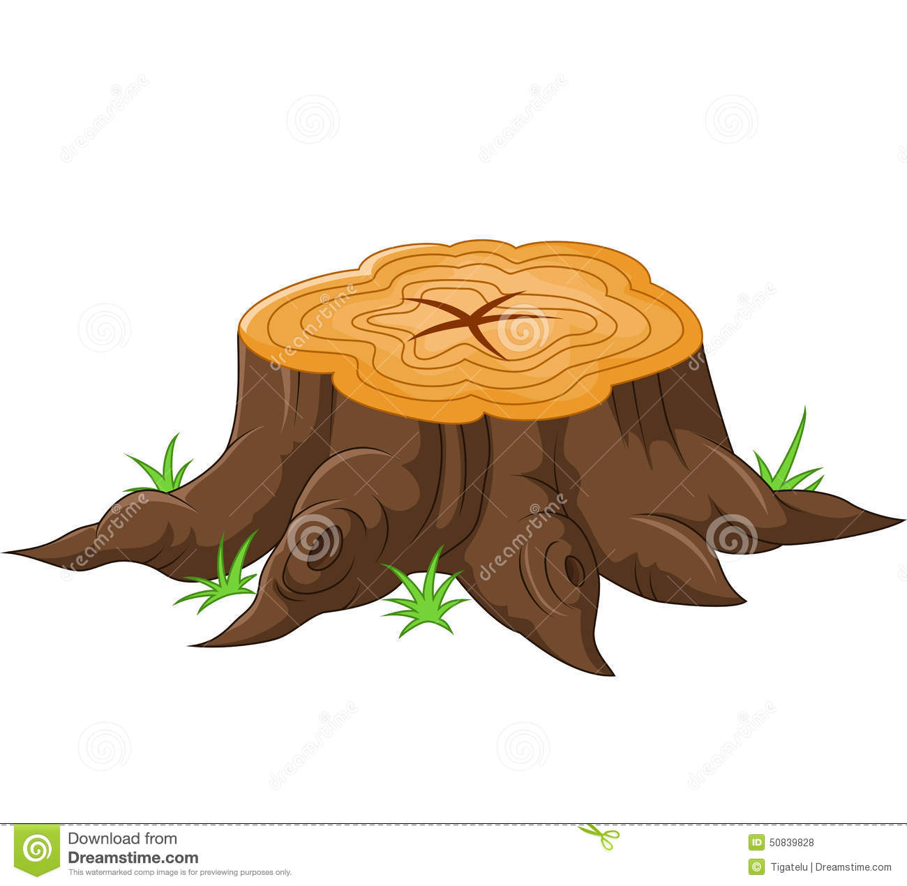 how to draw a tree stump