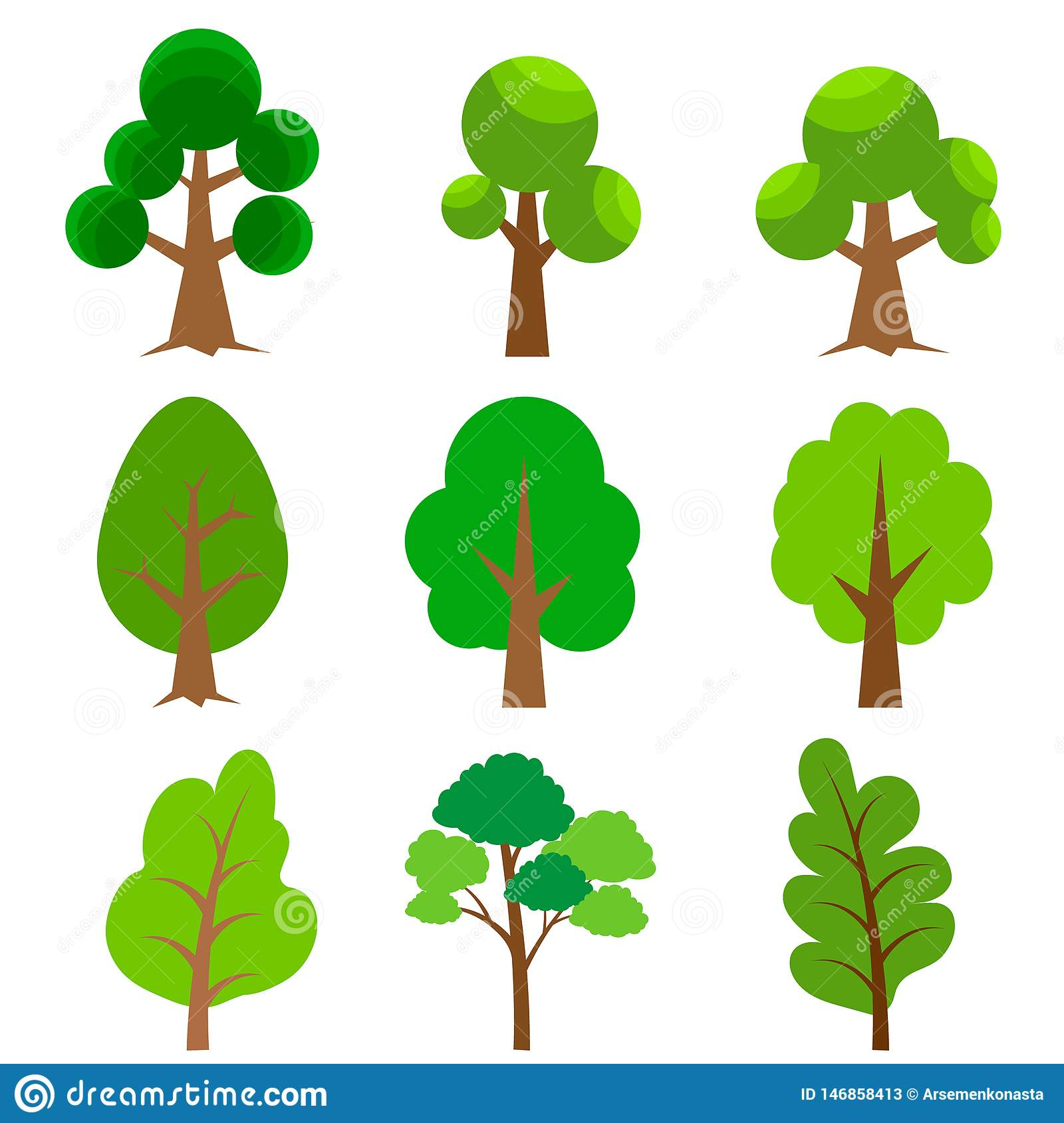 Cartoon Trees Big Set Difference Shape Tree Vector Illustration Tree For Game Design Or Landscape Nature In Park Stock Vector Illustration Of Abstract Graphic 146858413 Vector tagged as animal clipart black and white, animal outline. https www dreamstime com cartoon trees big set difference shape tree vector illustration game design landscape nature park different flat image146858413