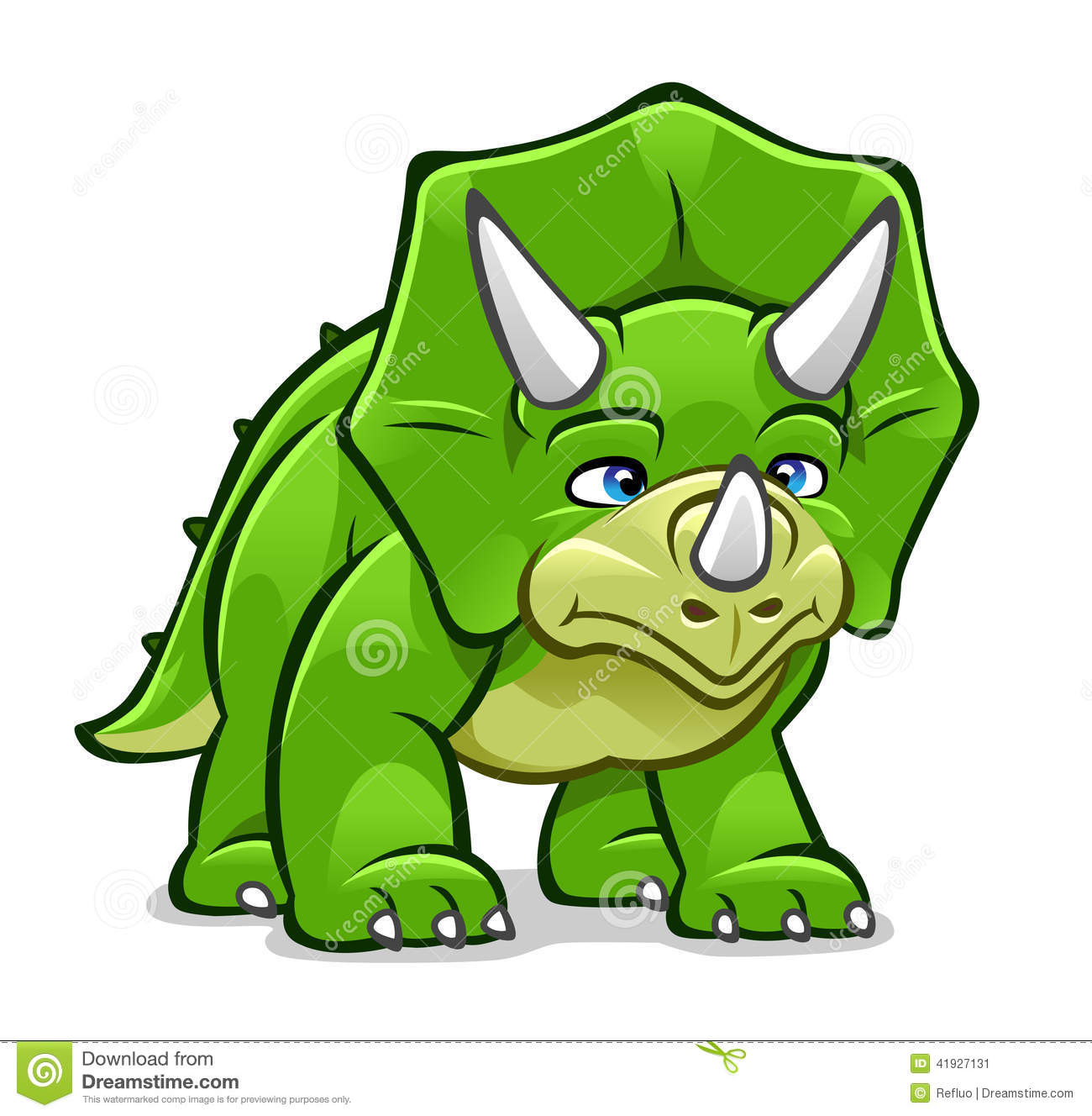 Cartoon Triceratops Stock Vector Image 41927131