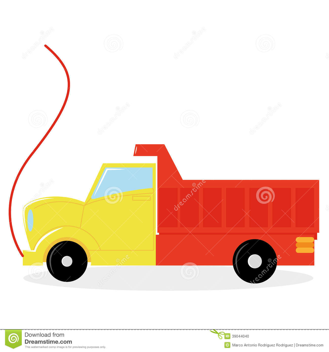 Cartoon Truck Toy Isolated On White Background Stock Vector Image 39044040