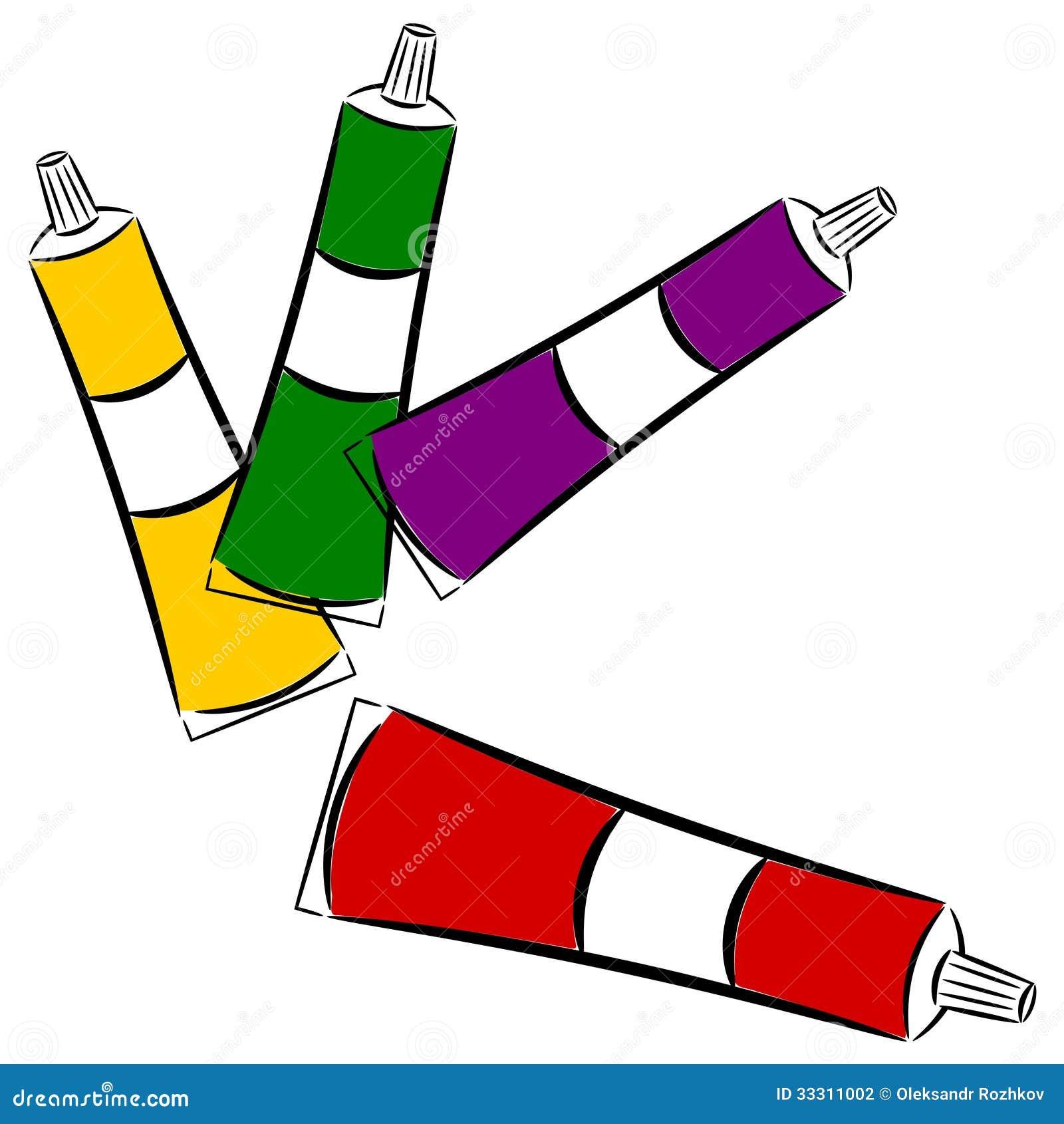 Cartoon Tubes Of Paint. Eps10 Stock Photography - Image: 33311002