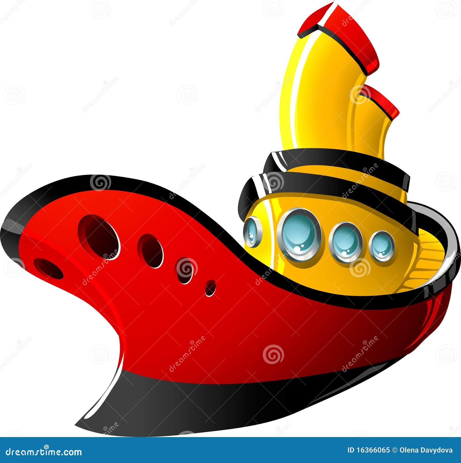 Cartoon Tugboat Royalty Free Stock Photo - Image: 16366065