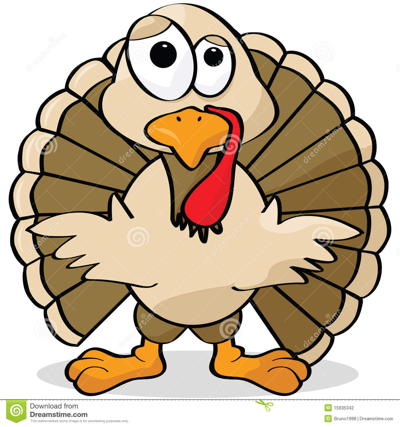 Cartoon turkey stock vector. Illustration of drawing ...