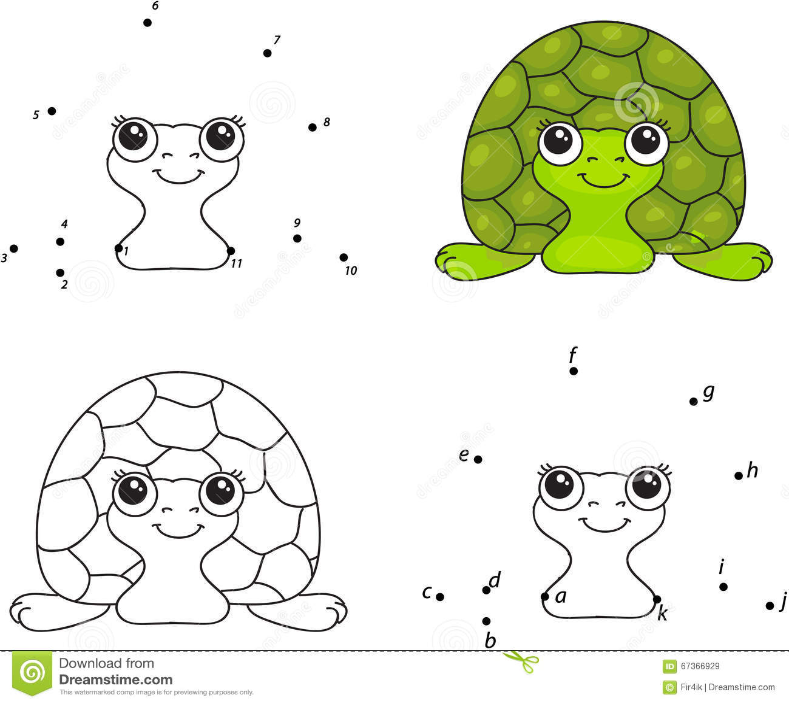 Royalty Free Vector Download Cartoon Turtle Coloring Book