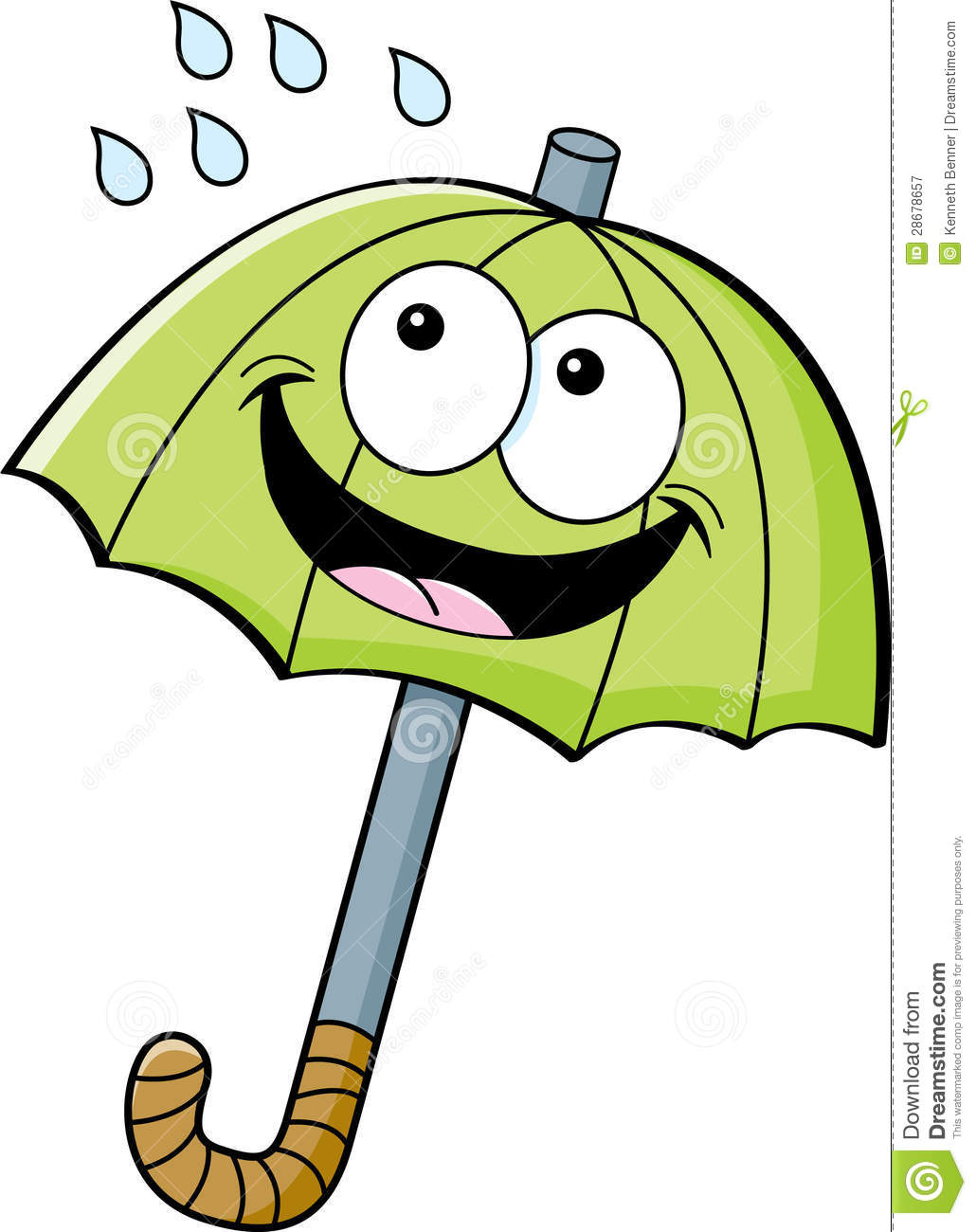 Cartoon Umbrella Royalty Free Stock Photography - Image: 28678657