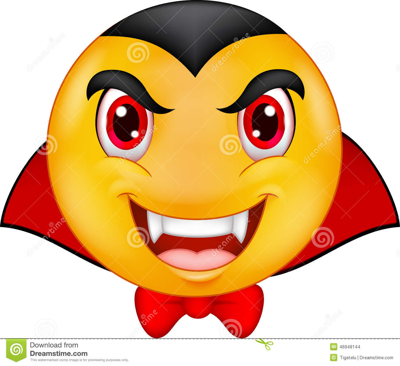 Cartoon vampire emoticon stock vector image