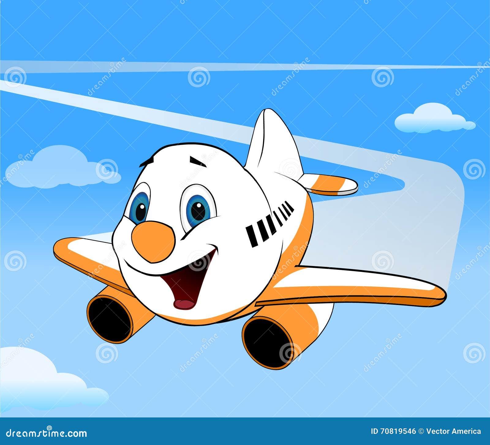 Cartoon Vector Airplane Stock Illustration Illustration