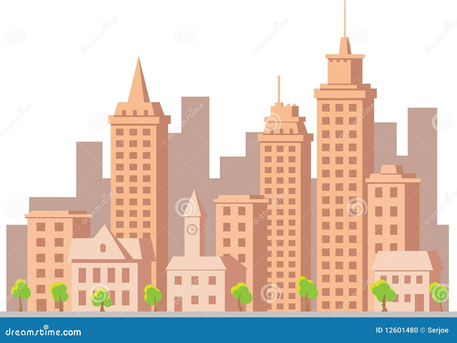 Cartoon Vector Construction Town Stock Photo Image 12601480