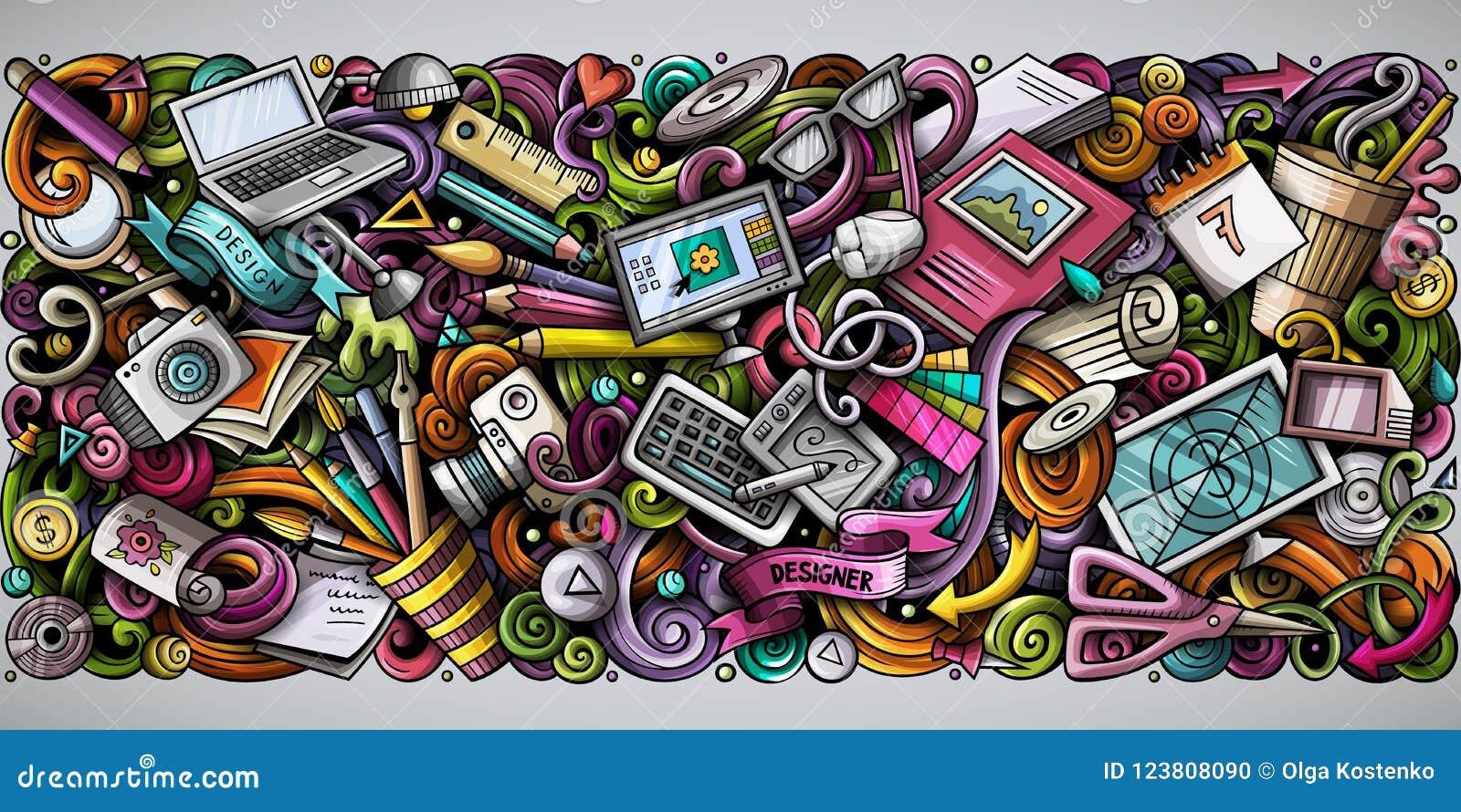 Colorful Doodle Art Designs
