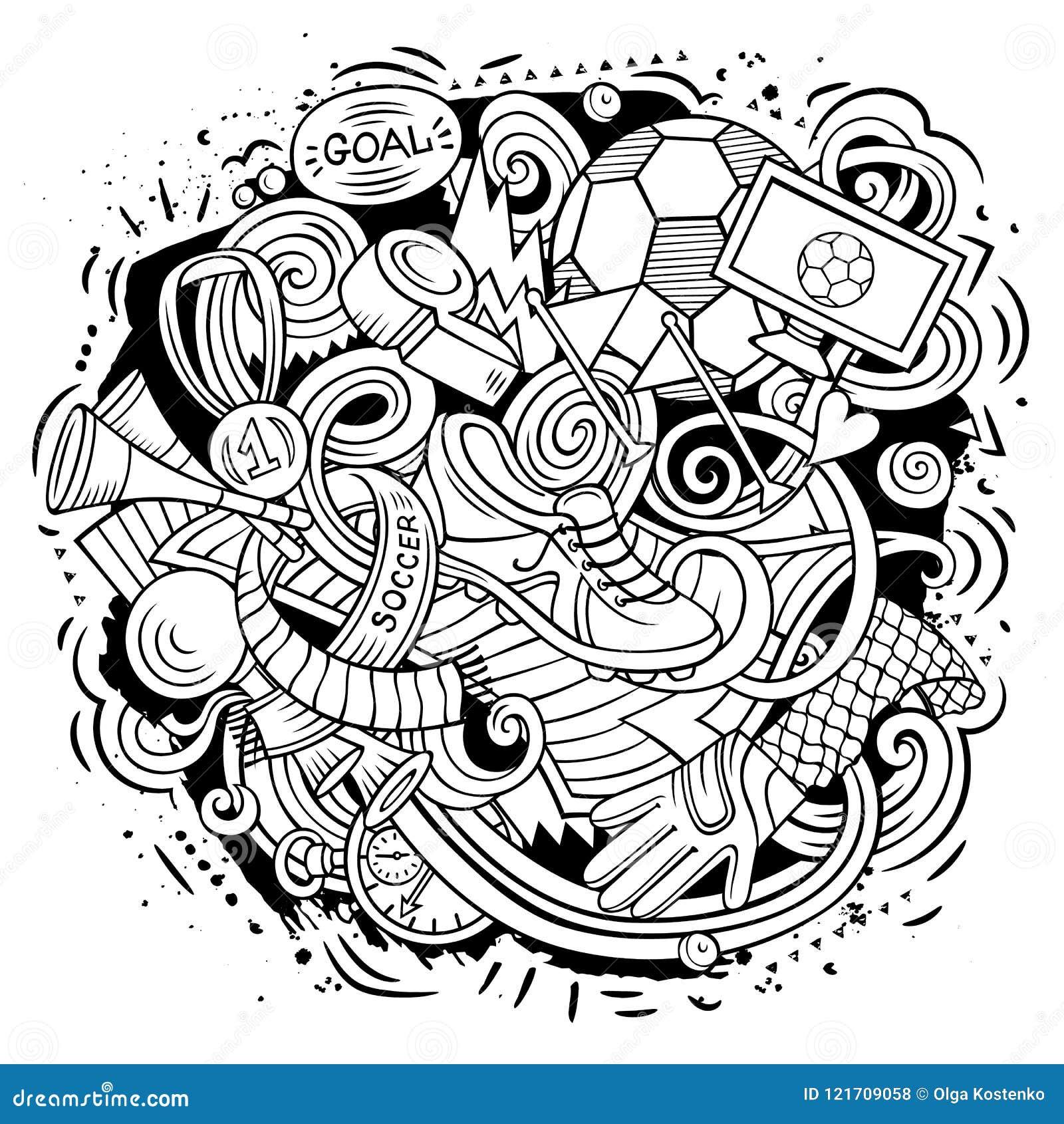 Cool Football Doodle Art