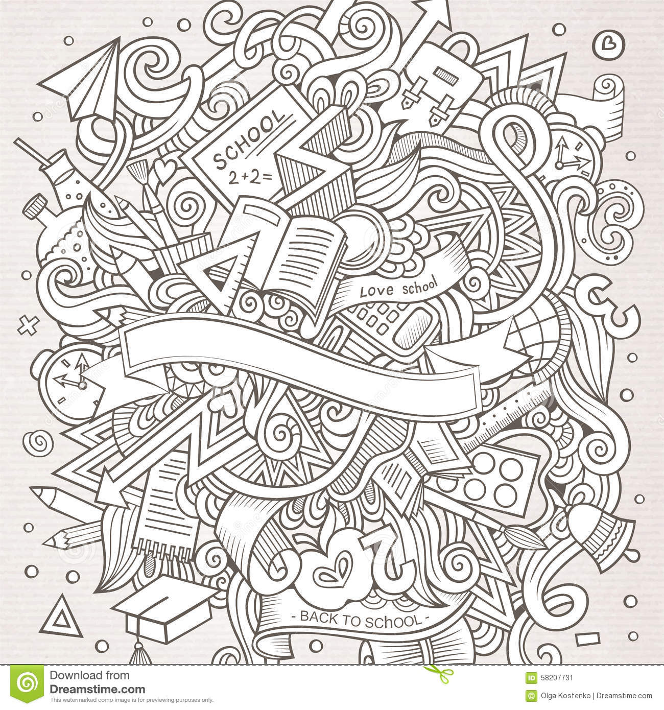 designs coloring pages school subjects - photo#17