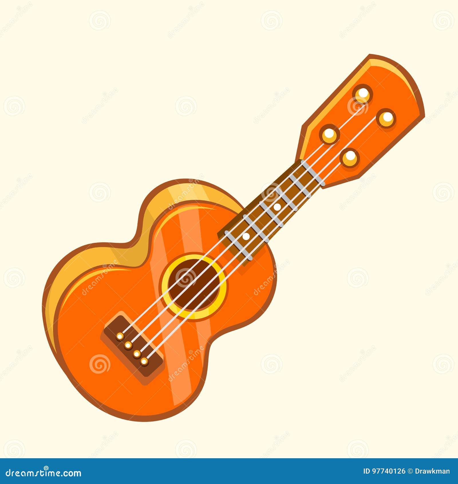 cartoon vector illustration of acoustic guitar or ukulele cartoon rh dreamstime com instrument clip art gif instrumental clip art