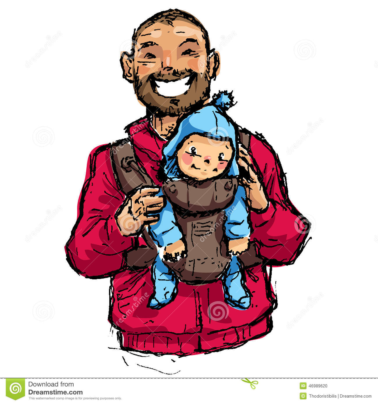cartoon vector illustration father with baby son in bathing suit clipart pics bathing suit clipart black and white
