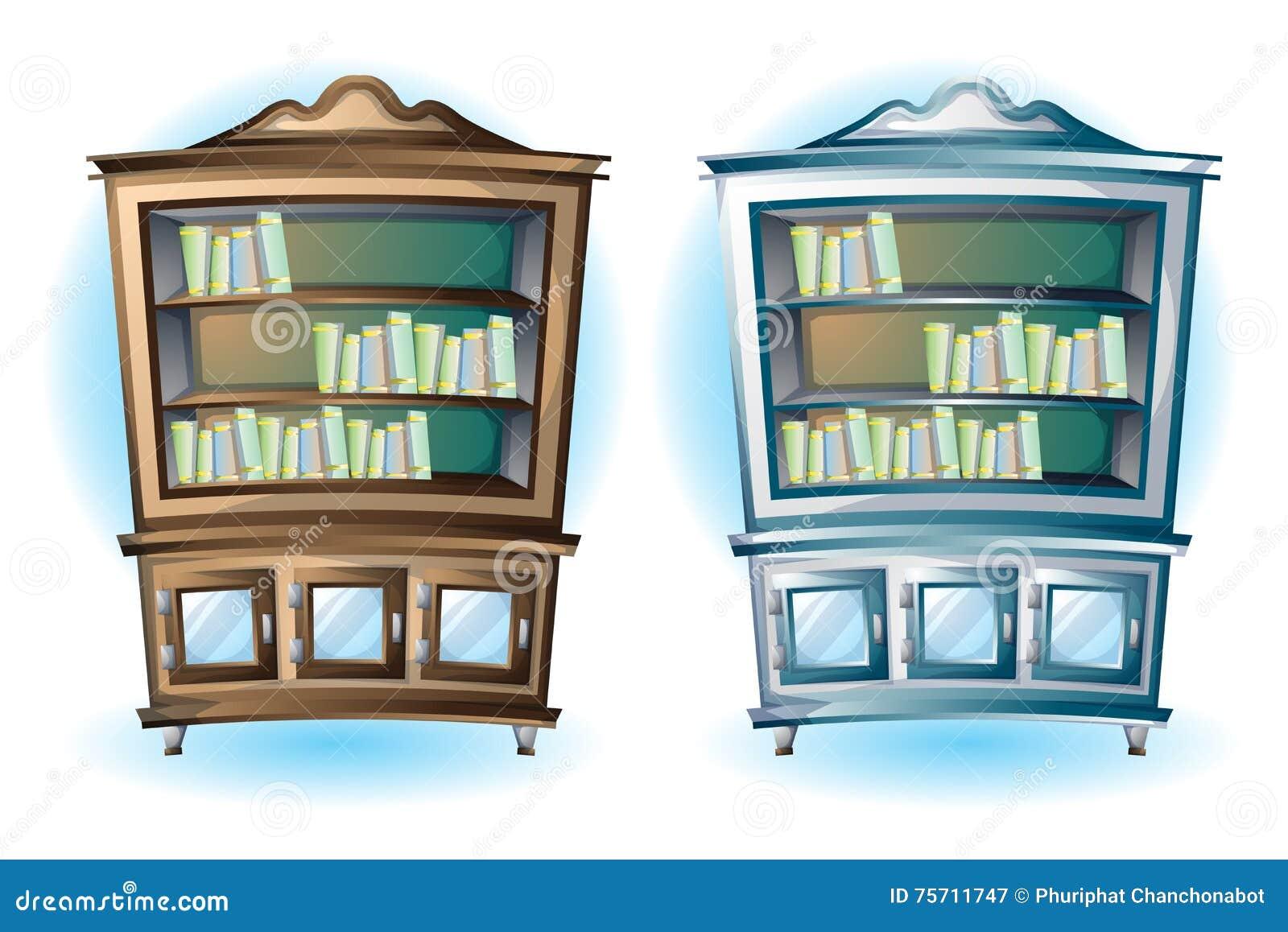 Interior wooden shelves free vector - Cabinet Cartoon Illustration Interior Vector Wood