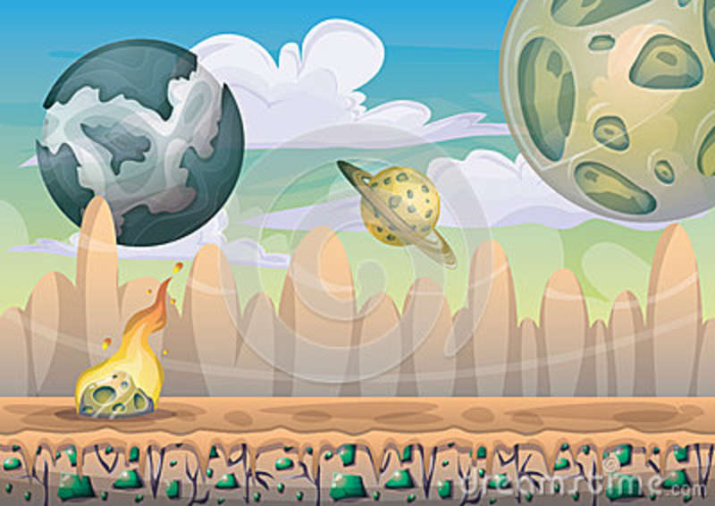cartoon-vector-landscape-meteor-background-separated-layers-game-art-animation-game-design-asset-d-graphic-79305319 Awesome 2d Game Art Background @koolgadgetz.com.info