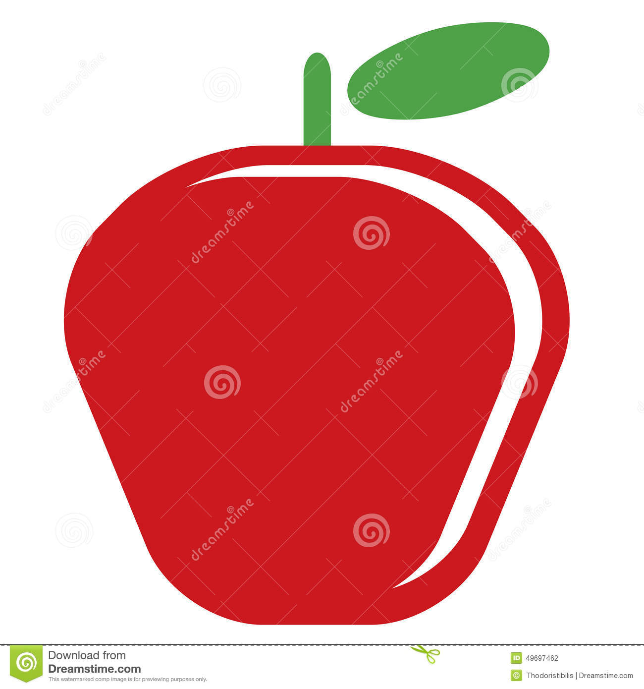 delicious green apple illustration - photo #42