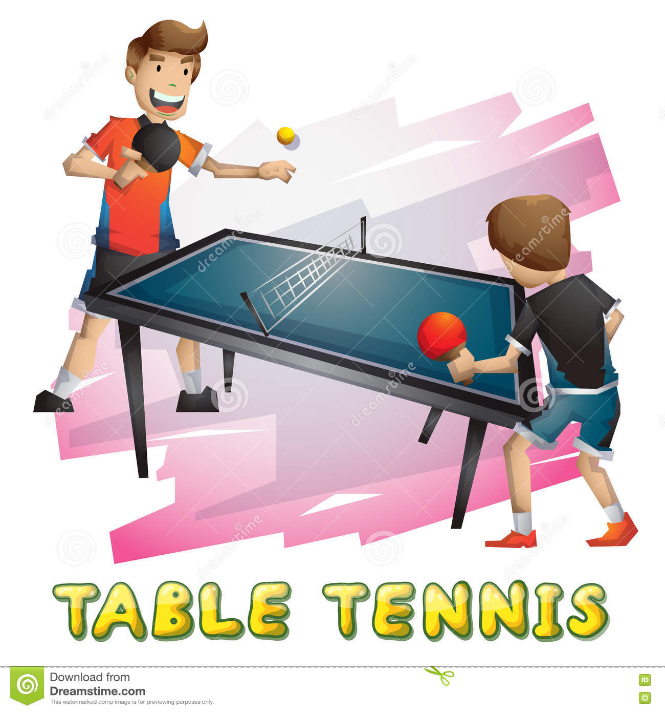 Ping pong table background - Cartoon Vector Table Tennis Sport With Separated Layers