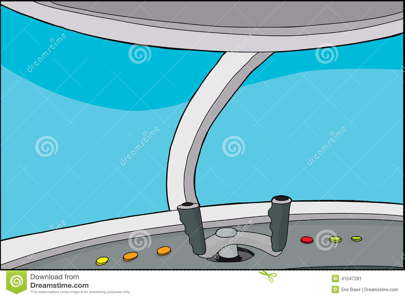 cartoon vehicle cockpit stock vector illustration of steering 41547281. Black Bedroom Furniture Sets. Home Design Ideas