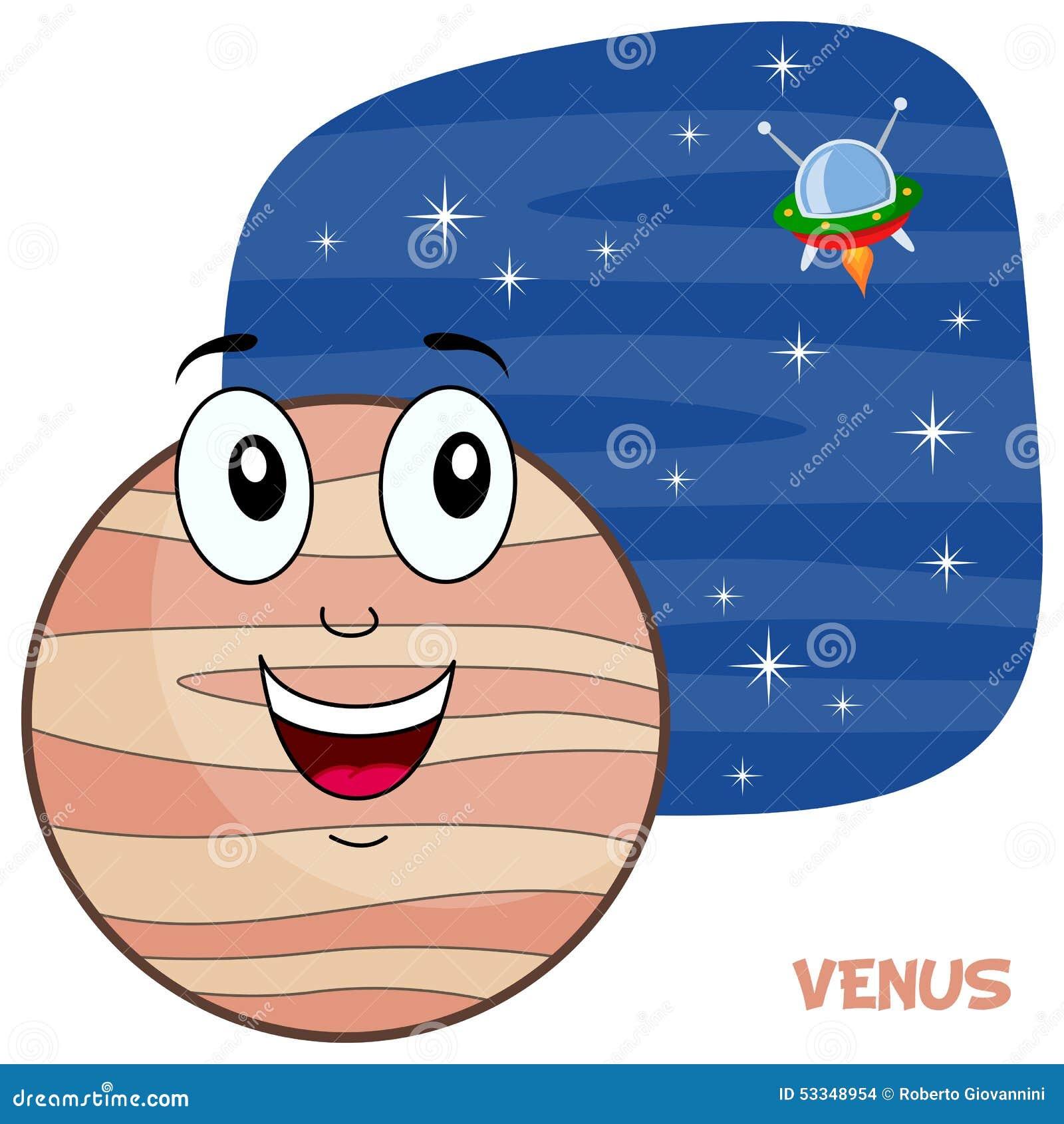 Cartoon Venus Planet Character