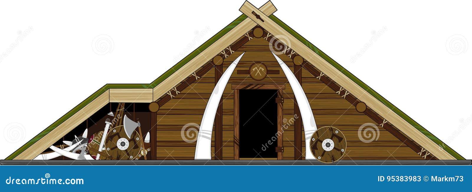 cartoon viking home stock vector illustration of homes 95383983