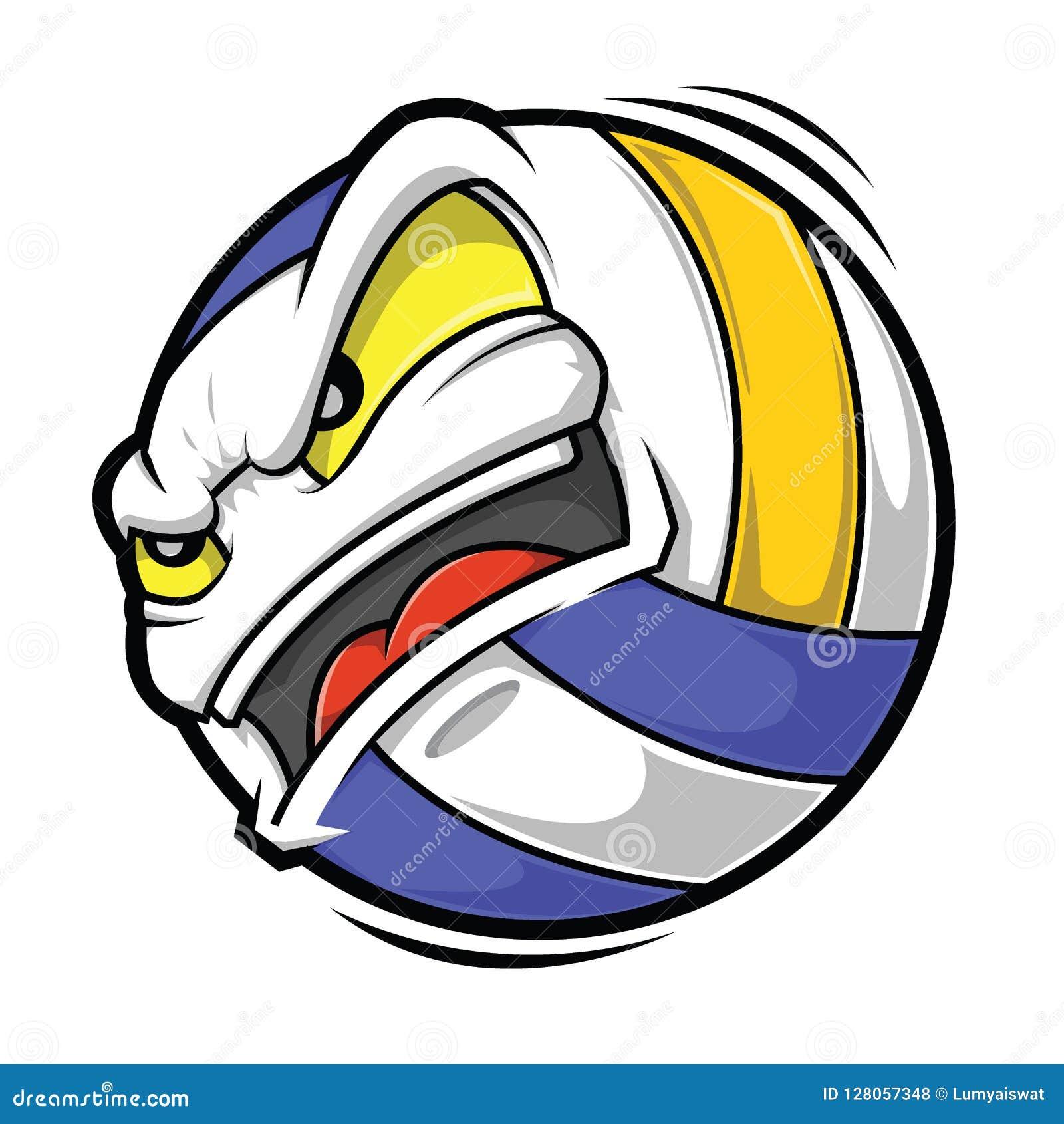 cartoon-volleyball-angry-face-vector-illustration-128057348 Best Of Volleyball Vector Artwork @koolgadgetz.com.info