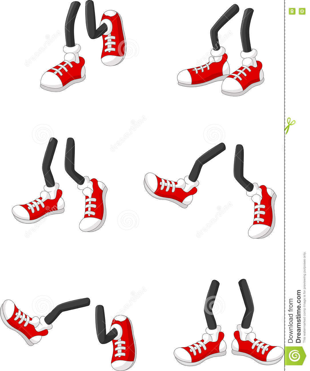 Sex Feet Positions Vector Illustration  Cartoondealercom -8512