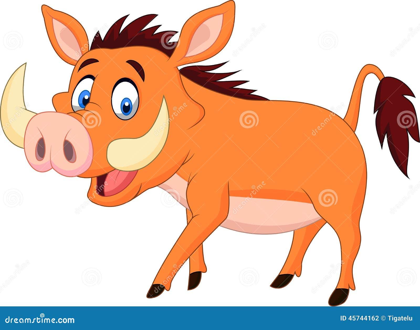 Cartoon Warthog Walking Stock Vector Image 45744162