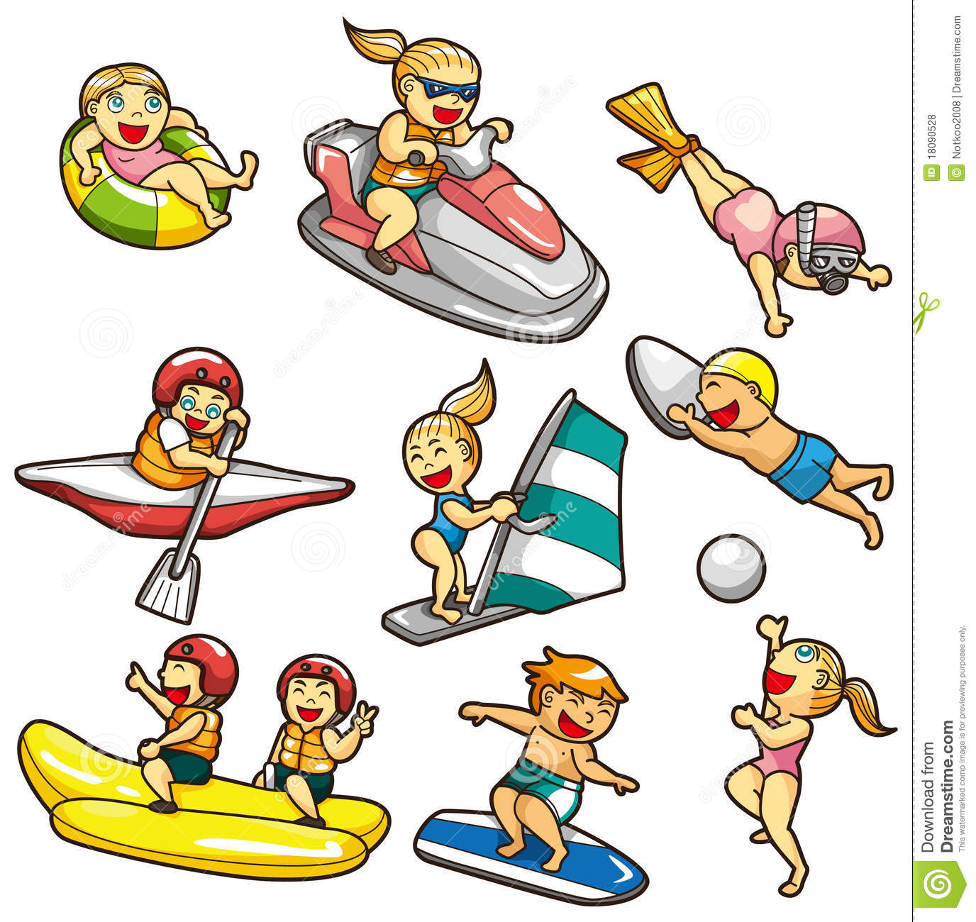 Cartoon Water Sport Icon Royalty Free Stock Photos - Image: 18090528