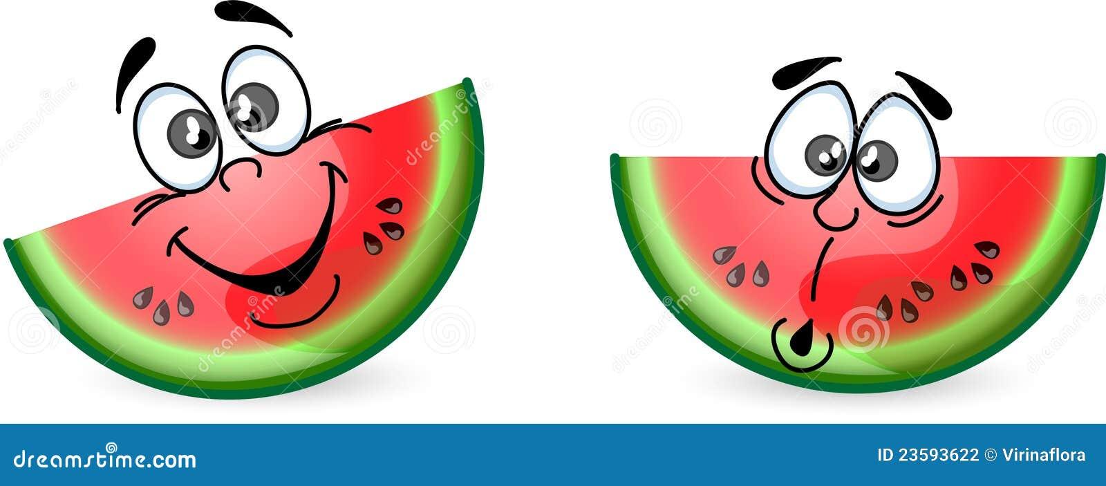 Cartoon Watermelon,vector Stock Photography