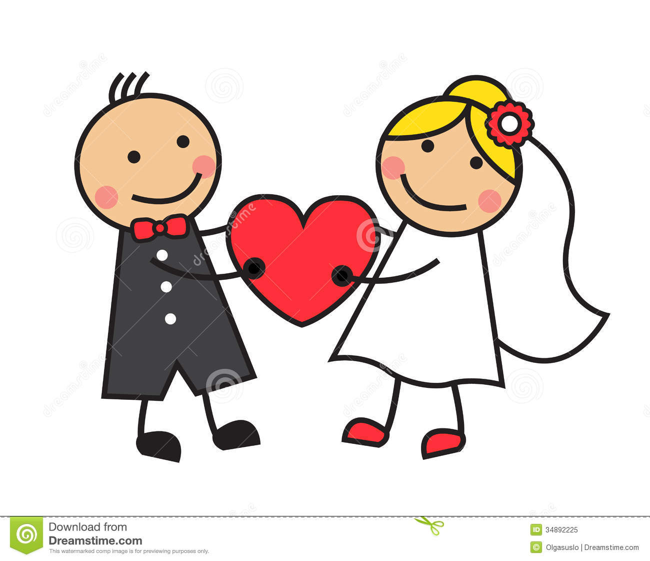 Image result for cartoon wedding pictures
