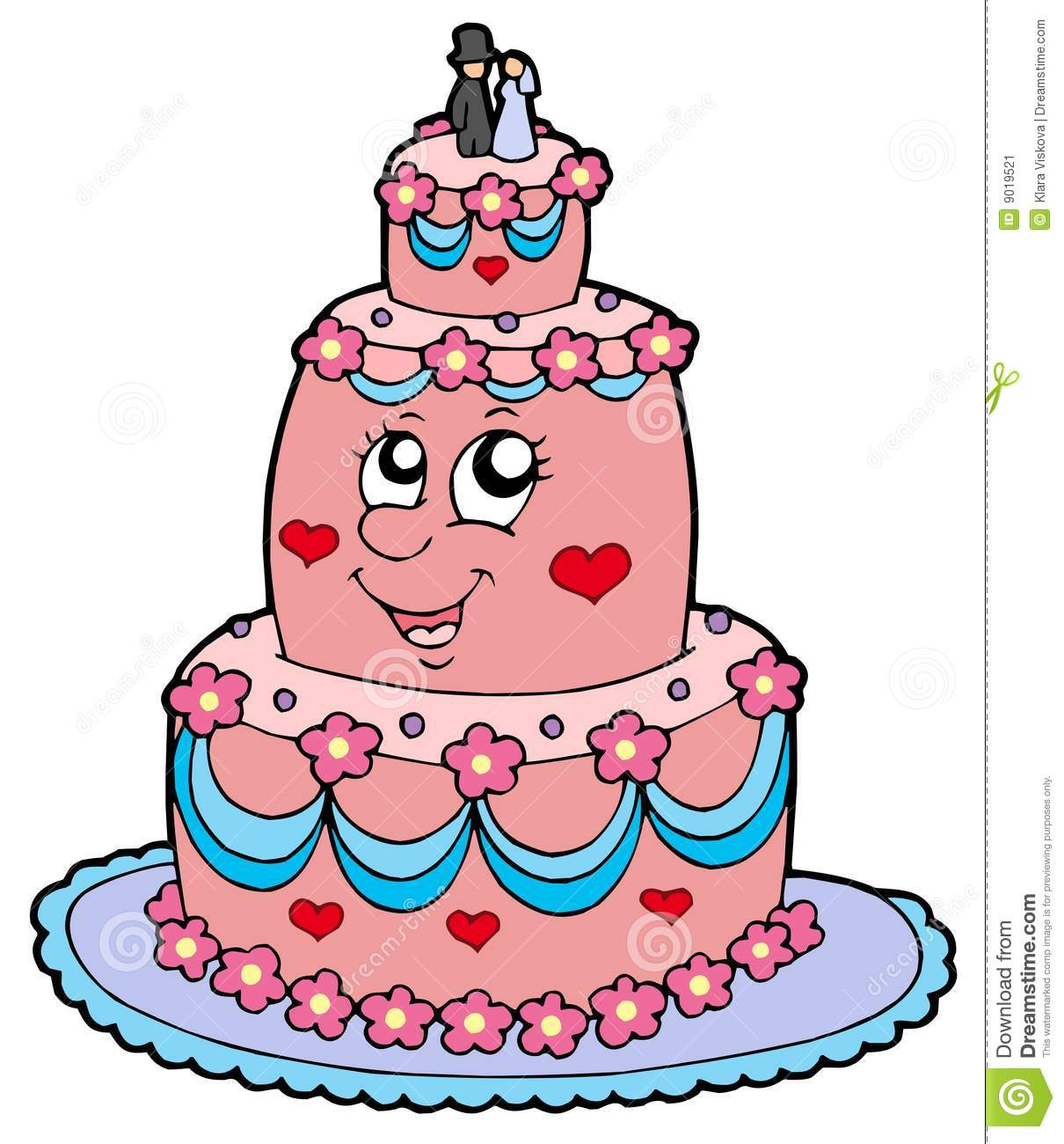 Wedding Cake Images Cartoon : Cartoon Wedding Cake Stock Image - Image: 9019521