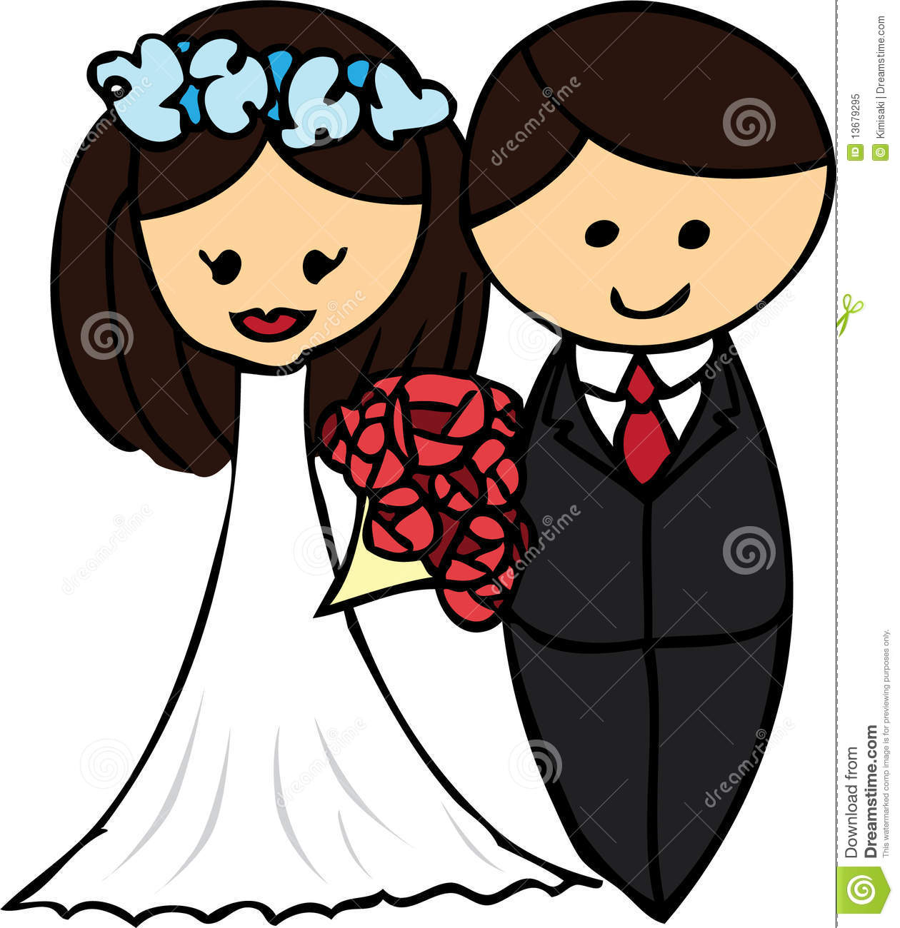 cartoon wedding flower