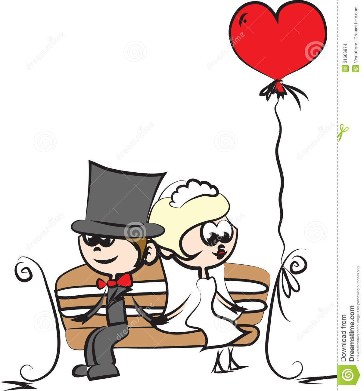 Cartoon wedding picture,vector illustration picture.