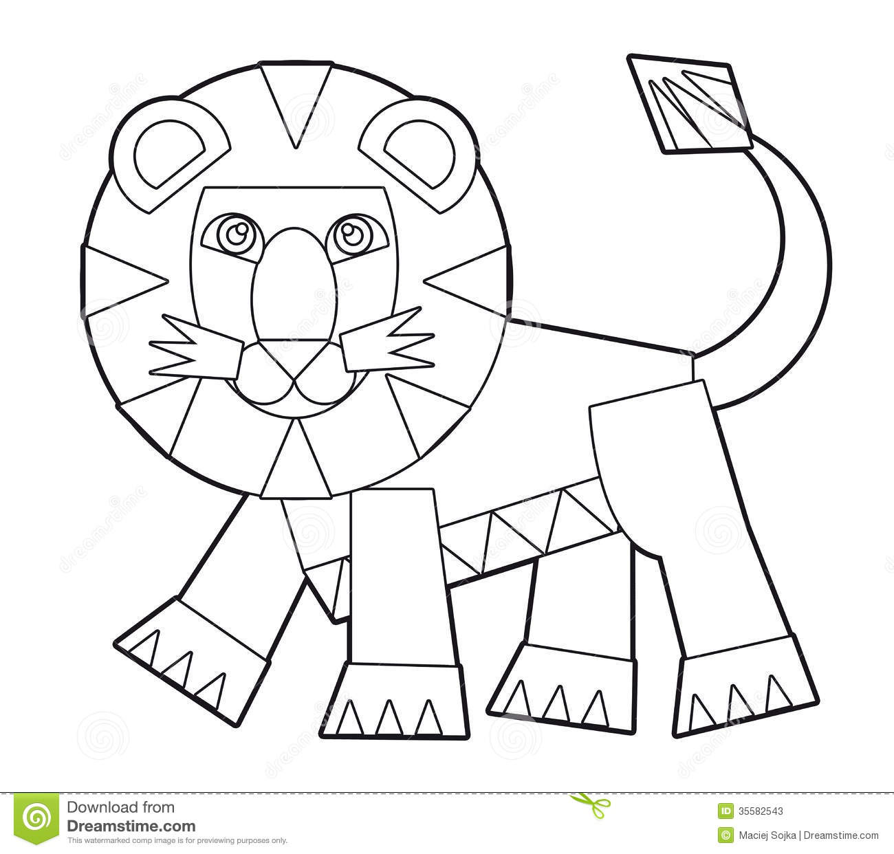 Aninimal Book: Cartoon Wild Animal - Coloring Page For The Children Stock ...