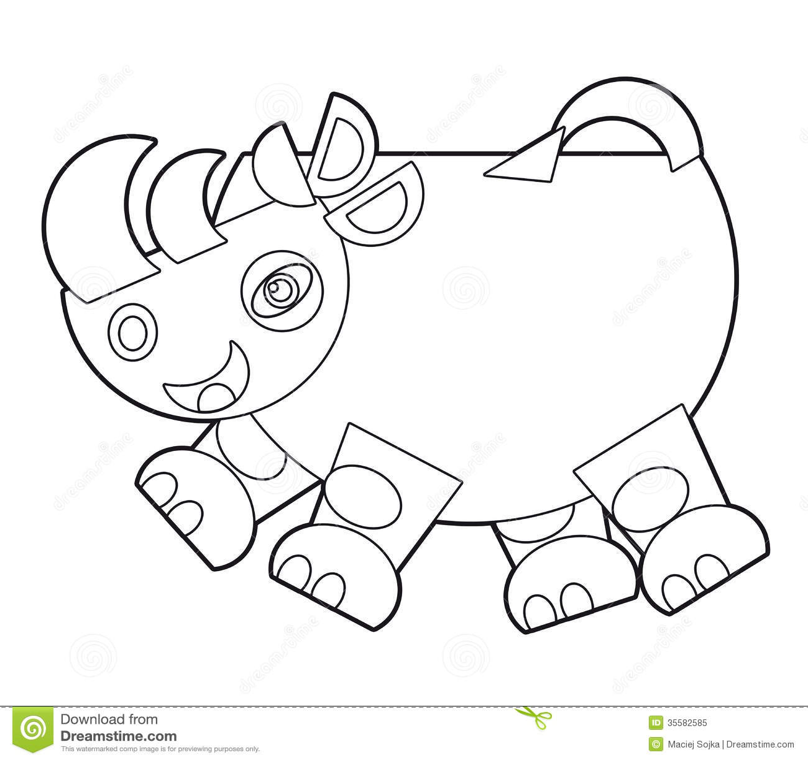 cartoon wild animal coloring page for the children stock illustration image 35582585. Black Bedroom Furniture Sets. Home Design Ideas