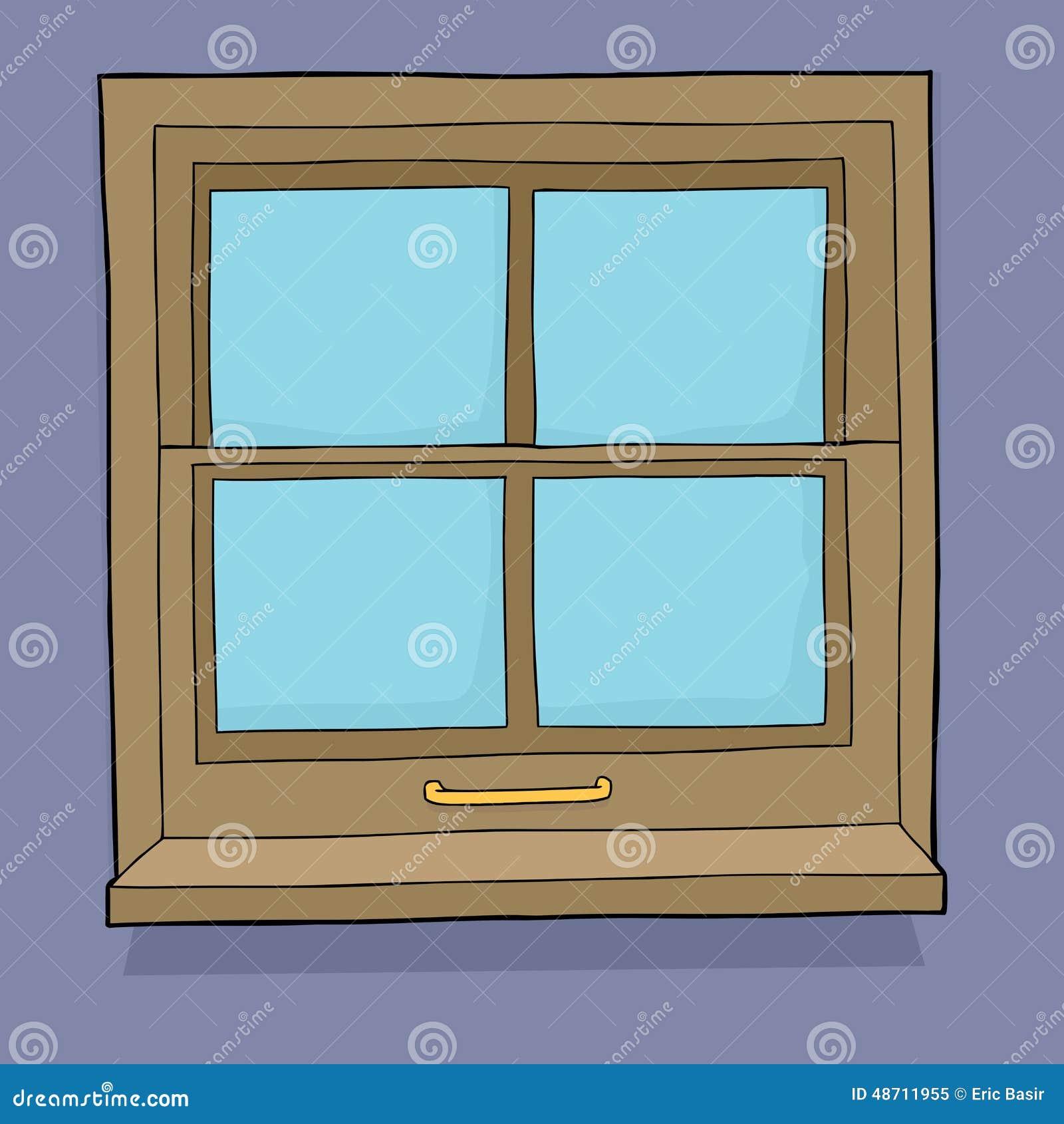 Cartoon window stock illustration image 48711955 for Window design 4 by 4