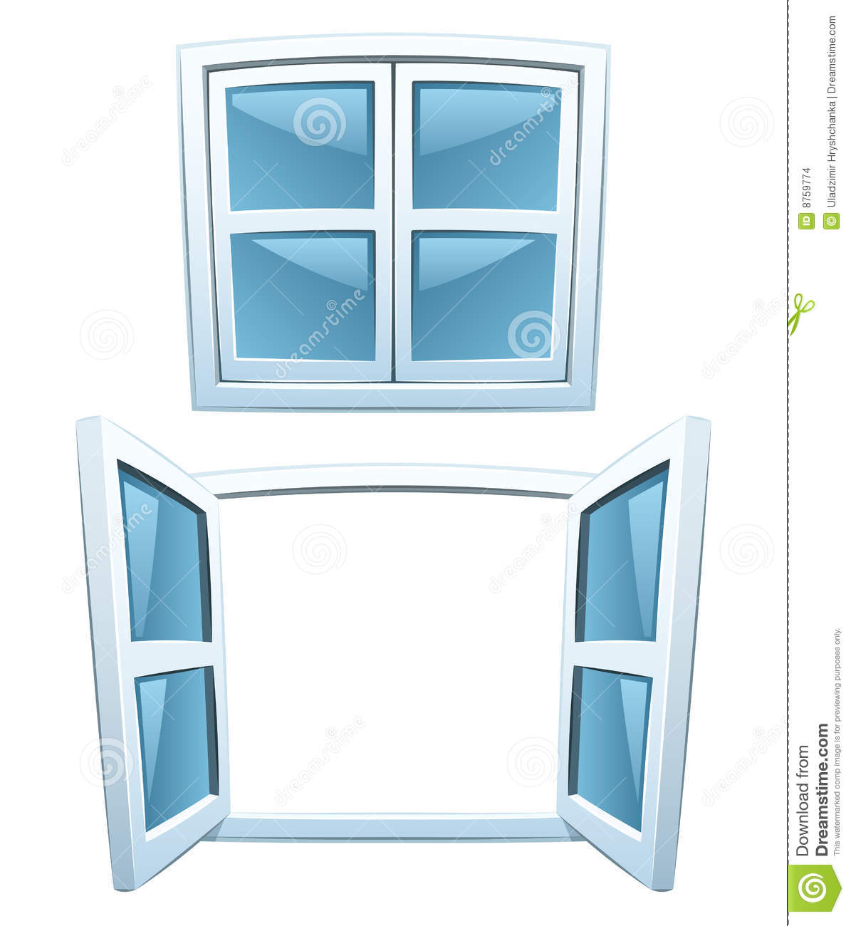 Cartoon Windows Stock Images Image 8759774