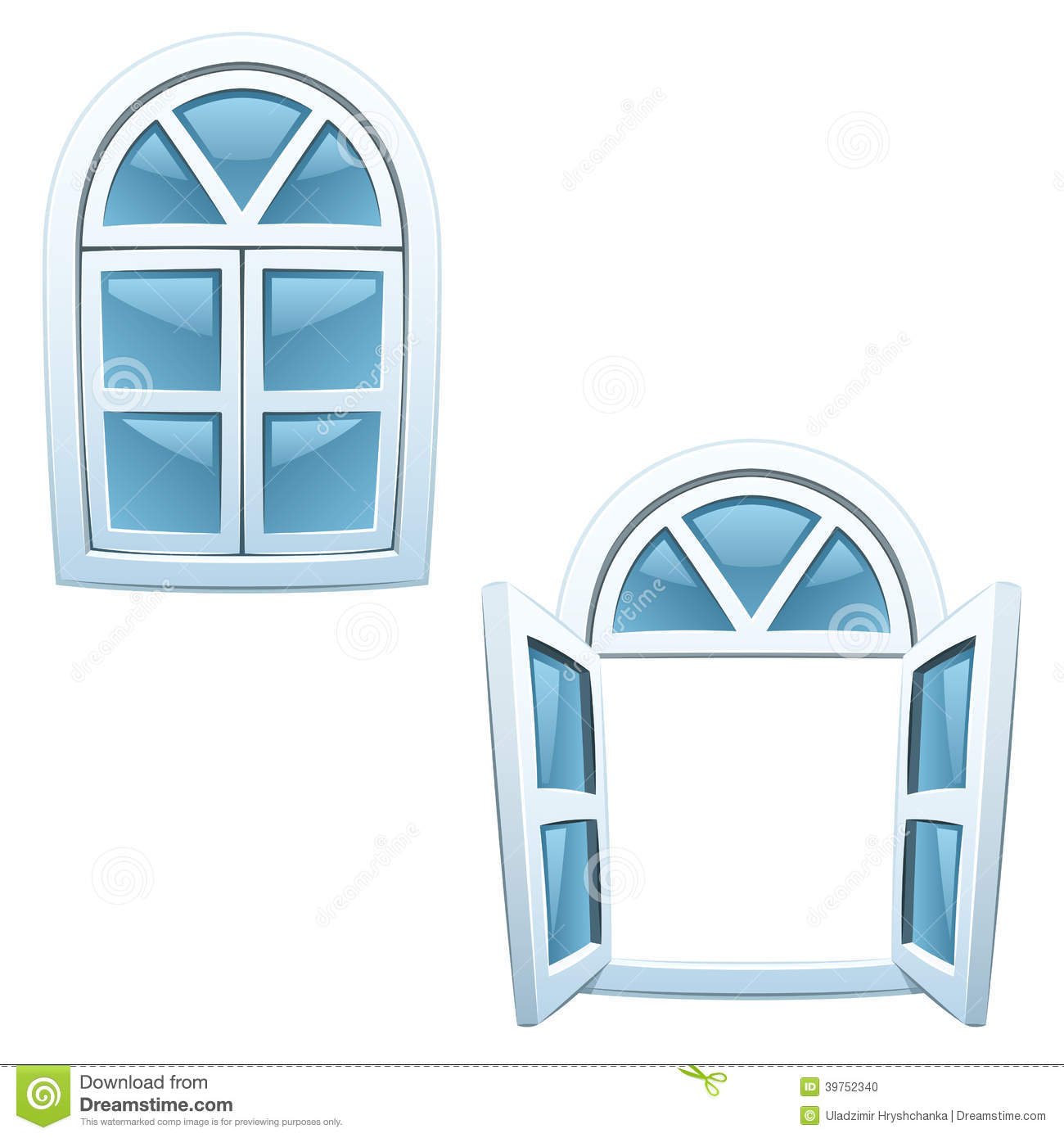 Cartoon Windows Stock Vector - Image: 39752340