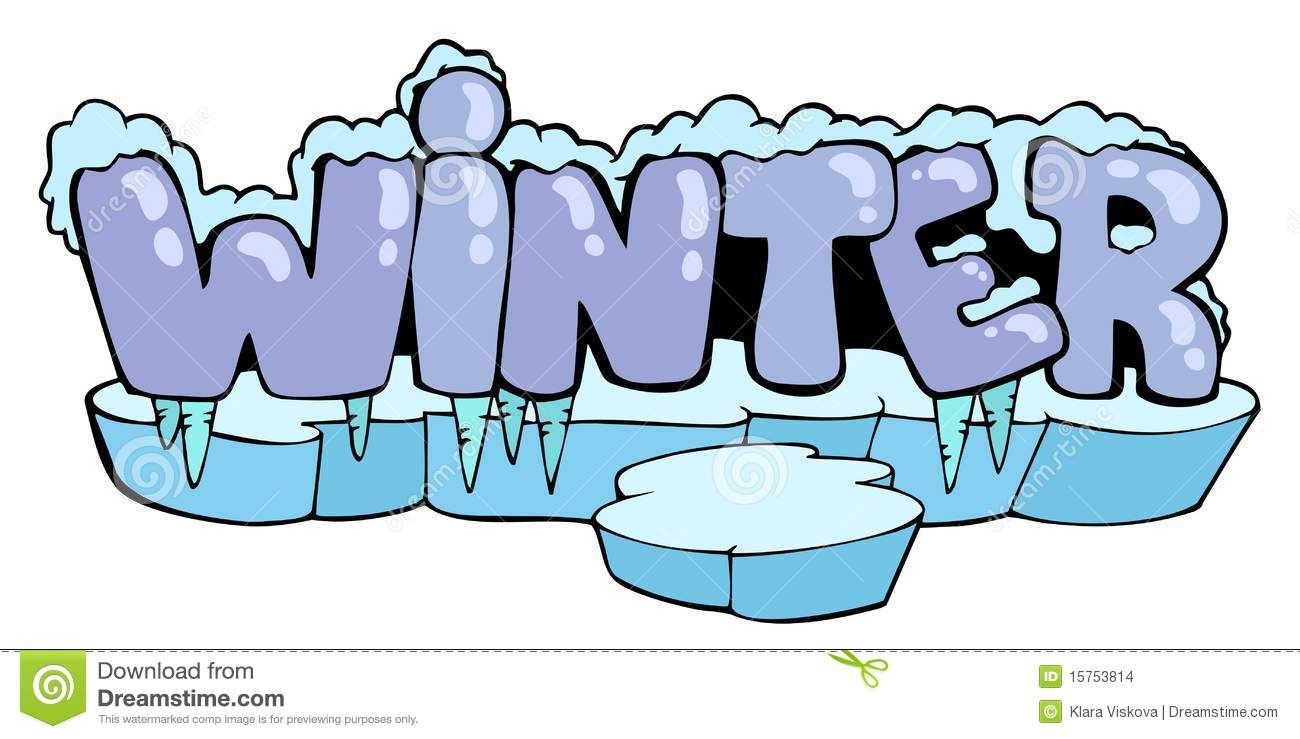 Cartoon Winter Sign Stock Images - Image: 15753814