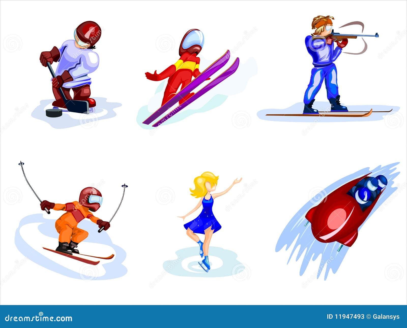 cartoon winter sports stock photos image 11947493