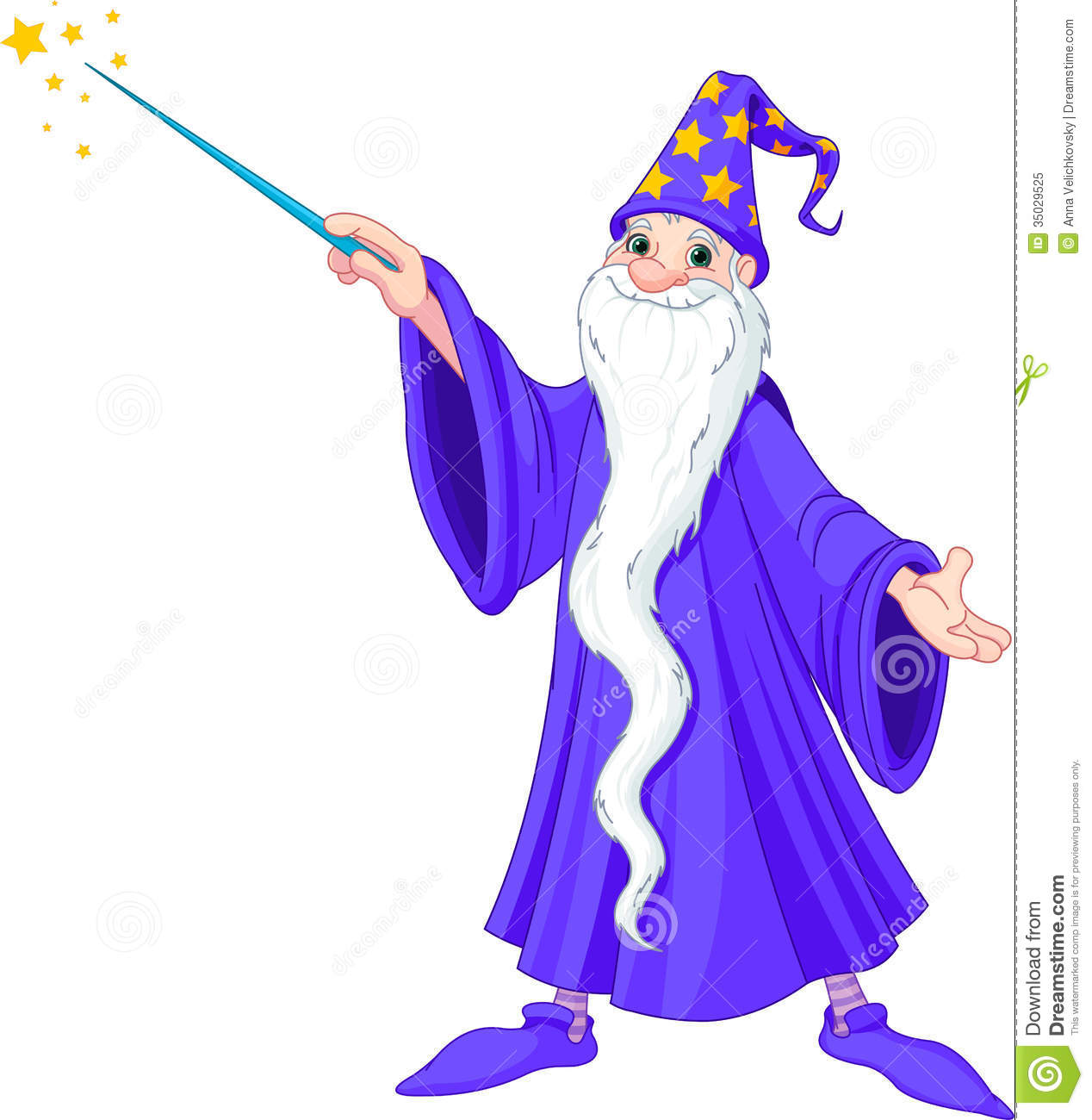 Cartoon wizard royalty free stock photo image 35029525