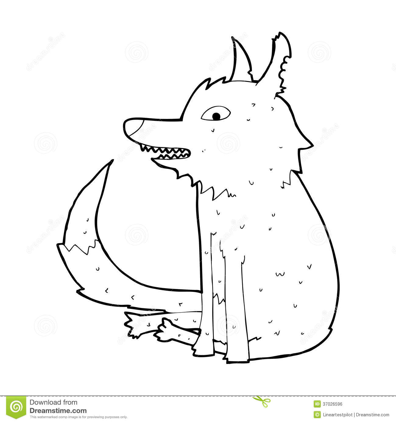 Cartoon wolf sitting stock illustration image of animals 37026596 royalty free stock photo download cartoon wolf ccuart Choice Image