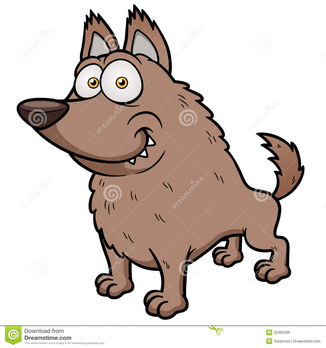 Cartoony Wolf Coloring Pages