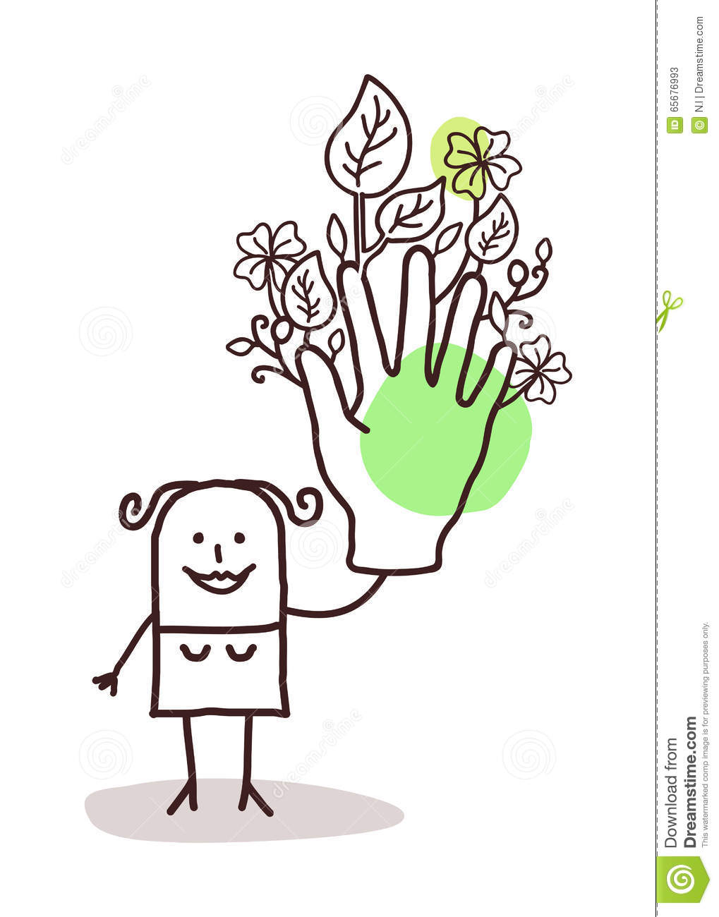 Cartoon woman gardening cartoon vector for Big hands for gardening