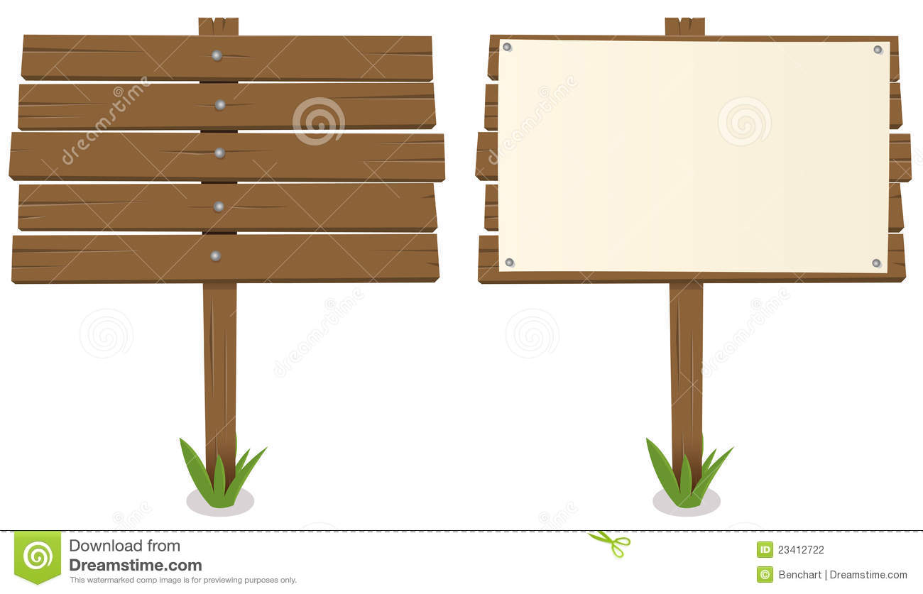 Cartoon Wood Board Stock graphy Image