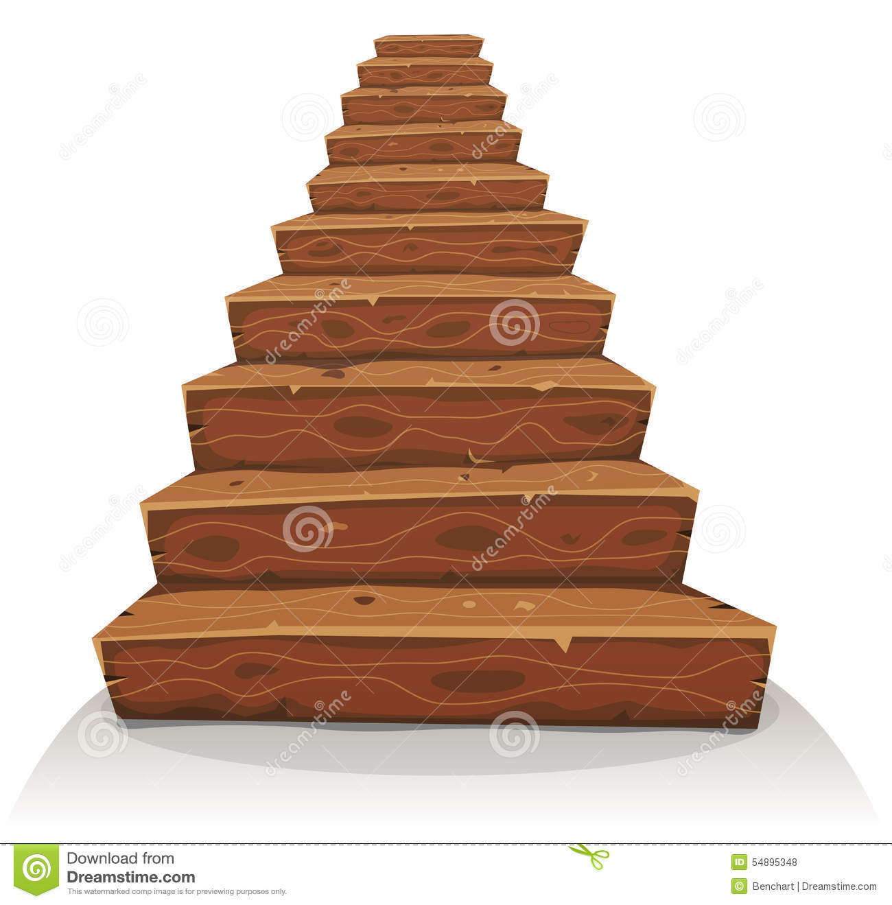 Amazing House Construction App #2: Cartoon-wood-stairs-illustration-funny-wooden-stairway-castle-old-house-construction-54895348.jpg