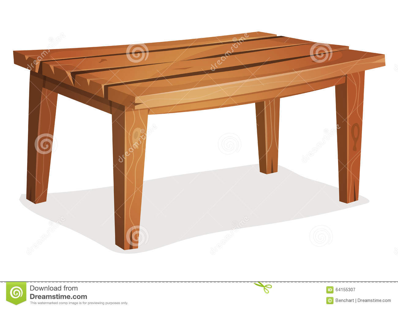 Cartoon kitchen table - Illustration Of A Cartoon Funny Wooden Kitchen Or Garden Table
