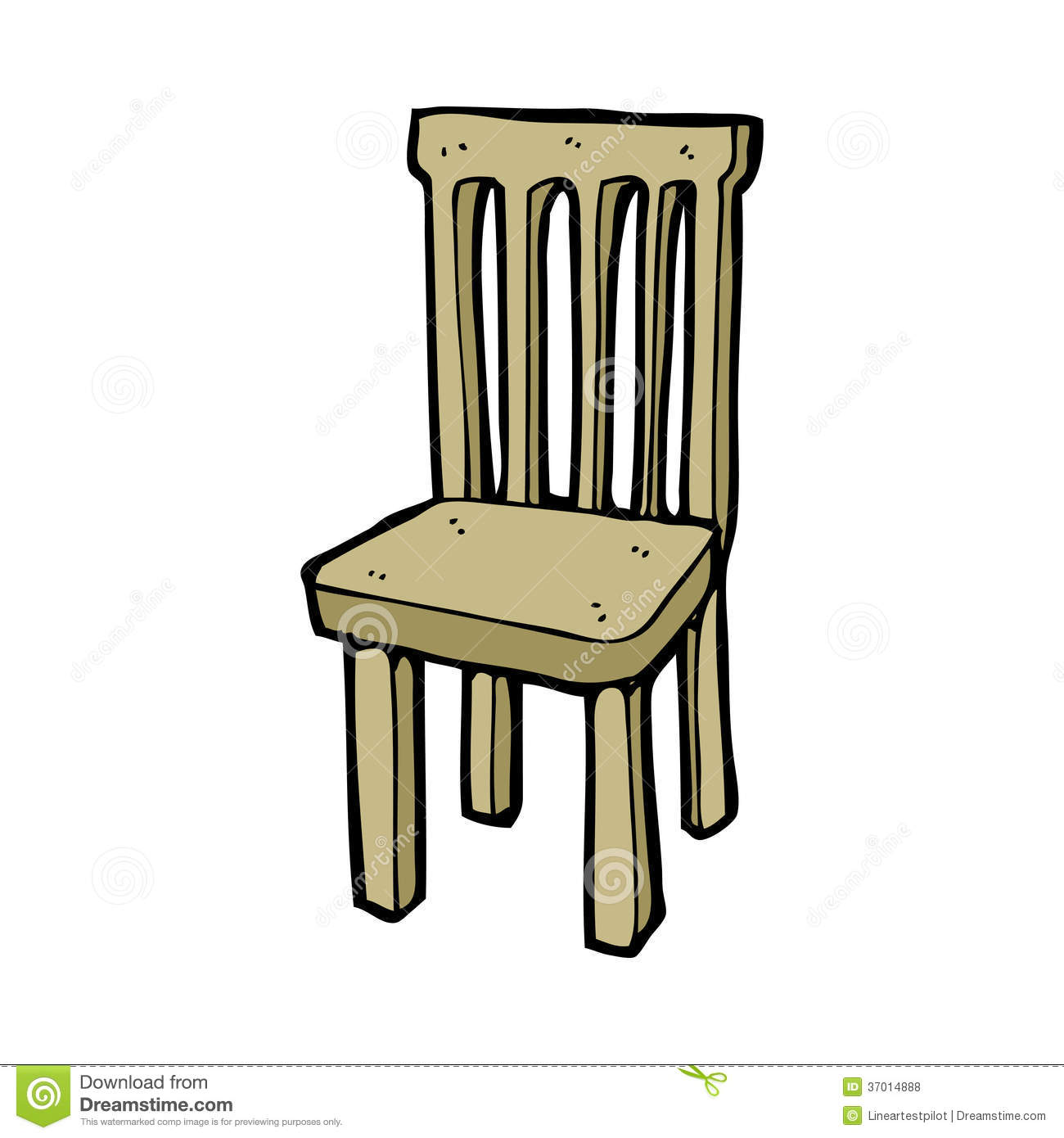 Royalty Free Stock Photos Cartoon Wooden Chair Hand Drawn Illustration Retro Style Vector Available Image37014888 on hand clip art