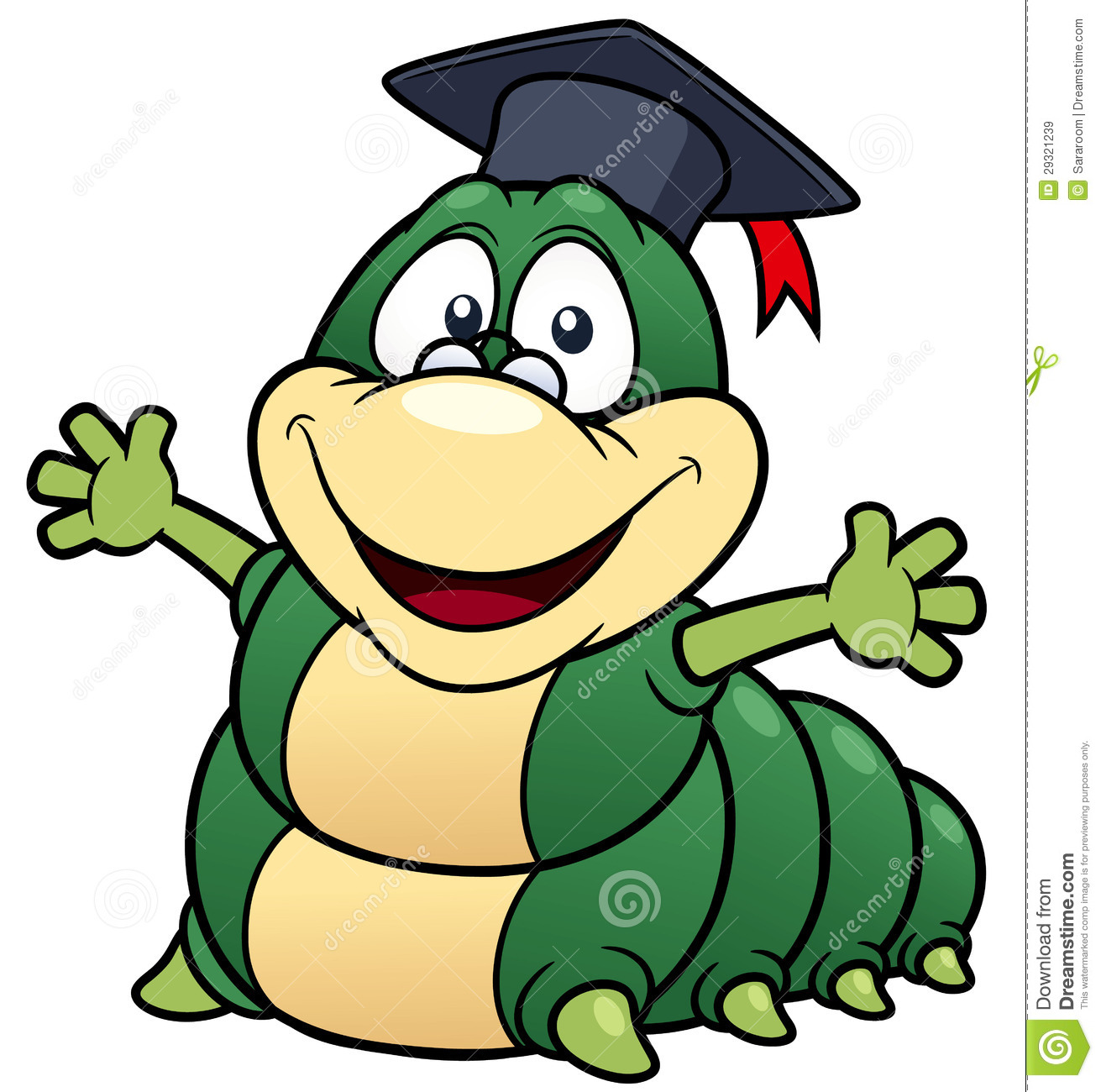 Cartoon Worm Professor Royalty Free Stock Images - Image: 29321239