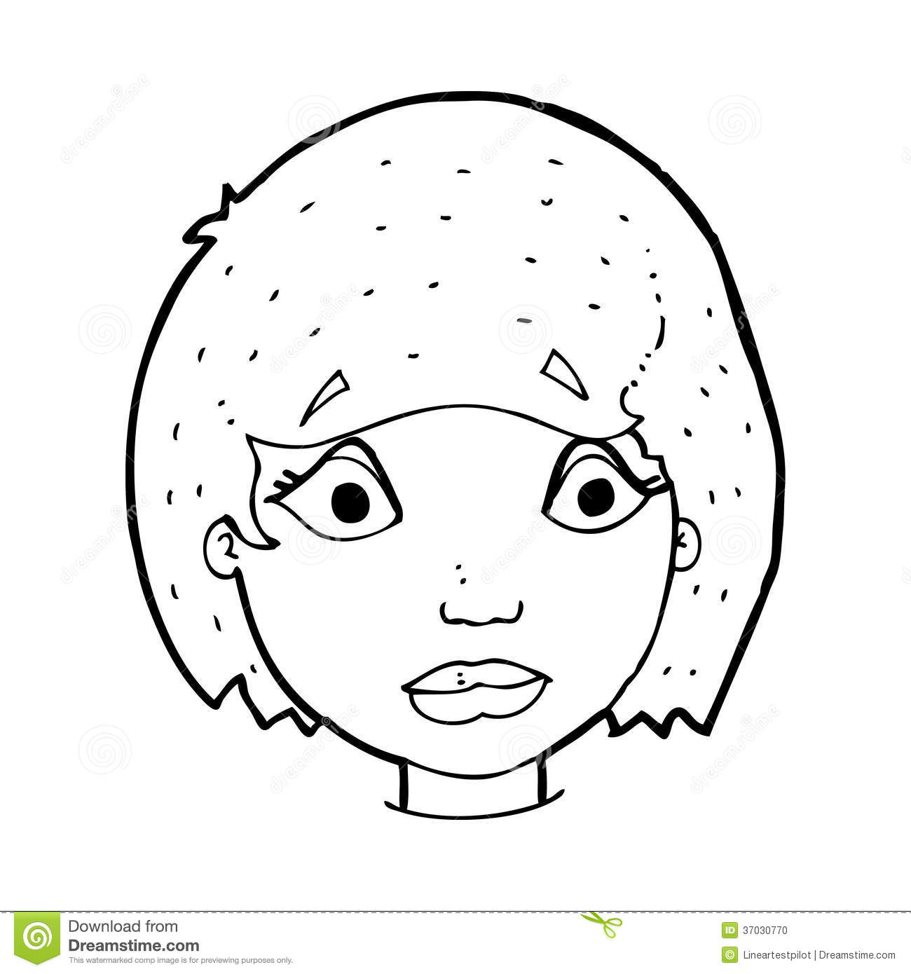 Cartoon Girl Face Black And White | www.pixshark.com ...